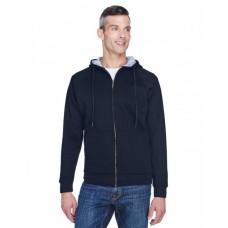 8463 Adult Rugged Wear Thermal-Lined Full-Zip Fleece Hooded Sweatshirt - UltraClub Hooded Sweatshirts