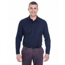 8542 Adult Long-Sleeve Whisper Piqué Polo - UltraClub Polo Shirts