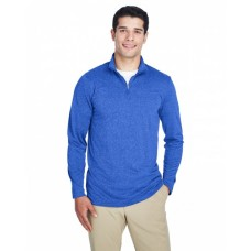 8618 Men's Cool & Dry Heathered Performance Quarter-Zip - UltraClub Mens Sweatshirts