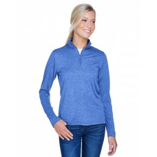 8618W Ladies' Cool & Dry Heathered Performance Quarter-Zip - UltraClub Womens Sweatshirts