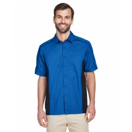 87042T Men's Tall Fuse Colorblock Twill Shirt - North End Mens Woven Shirts