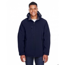 88159 Men's Glacier Insulated Three-Layer Fleece Bonded Soft Shell Jacket with Detachable Hood - North End Mens Jackets