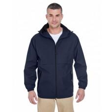 8908 Adult Microfiber Full-Zip Hooded Jacket - UltraClub Jackets