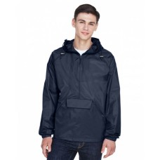 8925 Adult Quarter-Zip Hooded Pullover Pack-Away Jacket - UltraClub Jackets