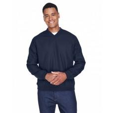 8926 Adult Long-Sleeve Microfiber Crossover V-Neck Wind Shirt - UltraClub Wind Shirts