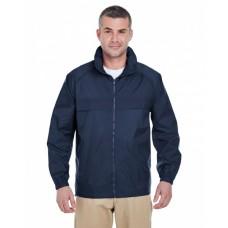 8929 Adult Full-Zip Hooded Pack-Away Jacket - UltraClub Jackets