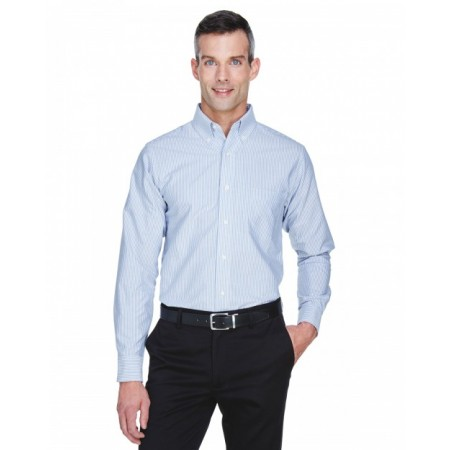 8970 Men's Classic Wrinkle-Resistant Long-Sleeve Oxford - UltraClub Mens Woven Shirts