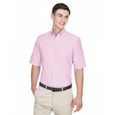 8972 Men's Classic Wrinkle-Resistant Short-Sleeve Oxford - UltraClub Mens Woven Shirts