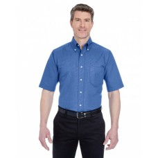 8972T Men's Tall Classic Wrinkle-Resistant Short-Sleeve Oxford - UltraClub Mens Woven Shirts