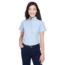 8973 Ladies' Classic Wrinkle-Resistant Short-Sleeve Oxford - UltraClub Women Woven Shirts