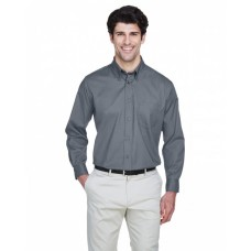 8975 Men's Whisper Twill - UltraClub Mens Woven Shirts