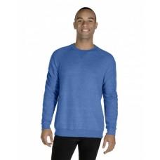 91MR Adult 7.2 oz., Snow Heather French Terry Crewneck Sweatshirt - Jerzees Crewneck Sweatshirts