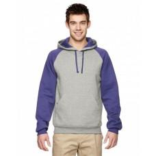 96CR Adult NuBlend® Colorblock Raglan Pullover Hooded Sweatshirt - Jerzees Hooded Sweatshirts