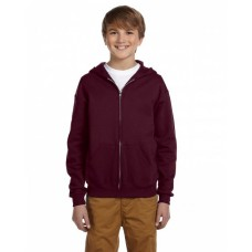 993B Youth NuBlend® Fleece Full-Zip Hooded Sweatshirt - Jerzees Hooded Sweatshirts