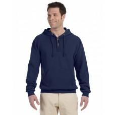 994MR Adult NuBlend® Fleece Quarter-Zip Pullover Hooded Sweatshirt - Jerzees Hooded Sweatshirts
