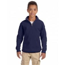 995Y Youth NuBlend® Quarter-Zip Cadet Collar Sweatshirt - Jerzees Sweatshirts