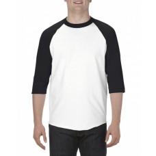 AL1334 Adult 6.0 oz., 100% Cotton 3/4 Raglan T-Shirt - Alstyle T Shirts