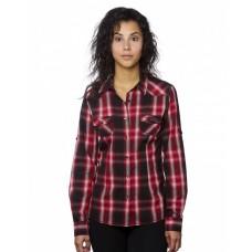 B5206 Ladies' Western Plaid Long-Sleeve Shirt - Burnside Women Woven Shirts