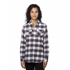 B5210 Ladies' Plaid Boyfriend Flannel Shirt - Burnside Women Woven Shirts
