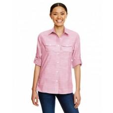 B5247 Ladies Texture Woven Shirt - Burnside Women Woven Shirts