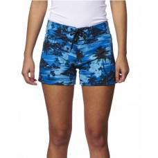 B5371 Ladies' Dobby Stretch Board Short - Burnside Womens Shorts