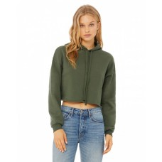 B7502 Ladies' Cropped Fleece Hoodie - Bella + Canvas Hoodies Sweatshirts