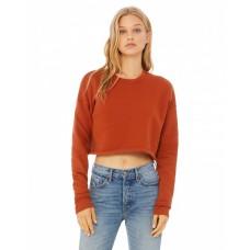 B7503 Ladies' Cropped Fleece Crew - Bella + Canvas Fleece Shirts