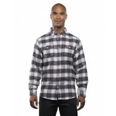 B8210 Men's Plaid Flannel Shirt - Burnside Mens Woven Shirts