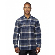 B8219 Men's Snap-Front Flannel Shirt - Burnside Mens Woven Shirts