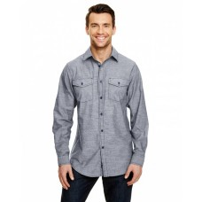 B8255 Mens Chambray Woven Shirt - Burnside Mens Woven Shirts