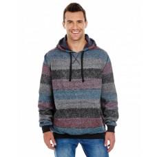 B8603 Men's Printed Stripe Marl Pullover - Burnside Pullover Sweatshirts