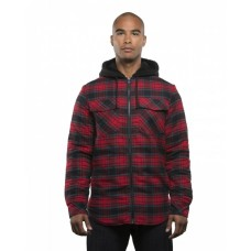 B8620 Men's Hooded Flannel Jacket - Burnside Mens Jackets