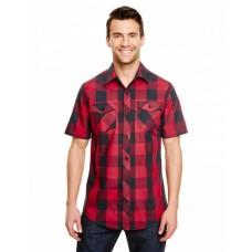B9203 Mens Buffalo Plaid Woven Shirt - Burnside Mens Woven Shirts