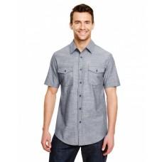 B9255 Mens Chambray Woven Shirt - Burnside Mens Woven Shirts