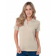 BA1050 Junior's 6.2 oz., 100% Cotton V-Neck Polo - Bayside Polo Shirts