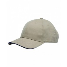BA3621 100% Brushed Cotton Twill Structured Sandwich Cap - Bayside Caps