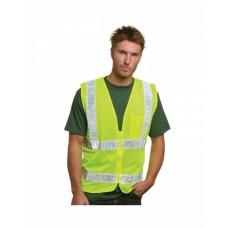 BA3785 Mesh Safety Vest - Lime - Bayside Vests