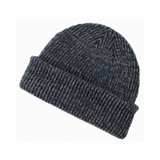 Big Accessories BA524 Ribbed Marled Beanie