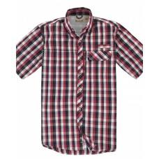 BP7015T Men's Tall Sport Utility Short-Sleeve Plaid Shirt - Backpacker Mens Woven Shirts