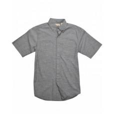 BP7019 Men's Slub Chambray Short-Sleeve Shirt - Backpacker Mens Woven Shirts