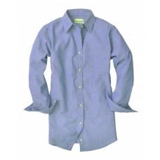 BP7034 Ladies' Classic Chambray Long-Sleeve Shirt - Backpacker Women Woven Shirts