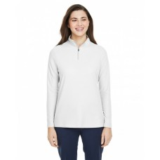 CE405W Ladies' Fusion ChromaSoft™ Pique Quarter-Zip - Core 365 Womens Sweatshirts