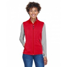 CE701W Ladies' Cruise Two-Layer Fleece Bonded SoftShell Vest - Core 365 Womens Vests