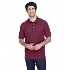 D100 Men's Pima Piqué Short-Sleeve Polo - Devon & Jones Mens Polo Shirts