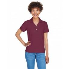D100W Ladies' Pima Piqué Short-Sleeve Y-Collar Polo - Devon & Jones Women Polo Shirts
