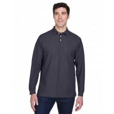 D110 Men's Pima Piqué Long-Sleeve Polo - Devon & Jones Mens Polo Shirts