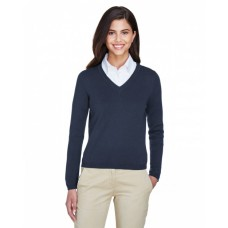 D475W Ladies' V-Neck Sweater - Devon & Jones Womens Sweaters
