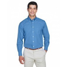 D620T Men's Tall Crown Woven Collection™ Solid Broadcloth - Devon & Jones Mens Woven Shirts