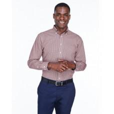 D640 Men's Crown Woven Collection™ Gingham Check - Devon & Jones Mens Woven Shirts