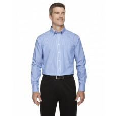 D645 Men's Crown Woven Collection™ Banker Stripe - Devon & Jones Mens Woven Shirts